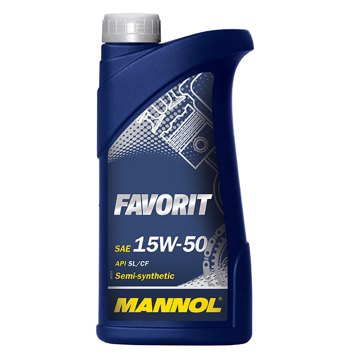 Mannol Favorit 15W-50 API SL/CF/CF-4 - Полусинтетическое моторное масло