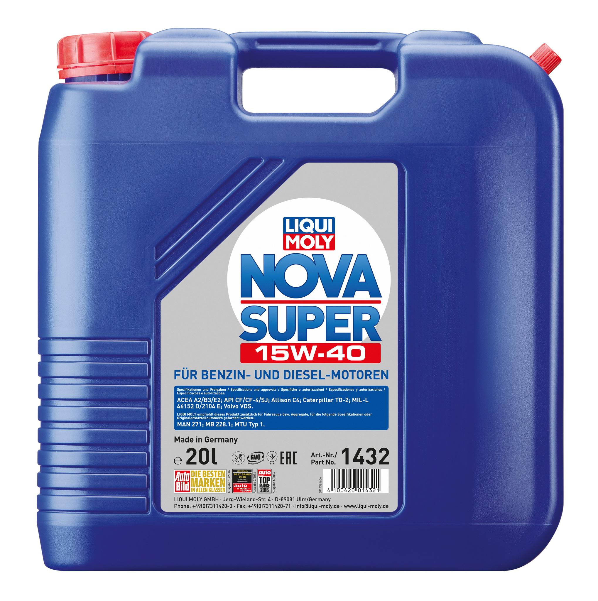 Liqui Moly Nova Super 15W40 Минеральное моторное масло