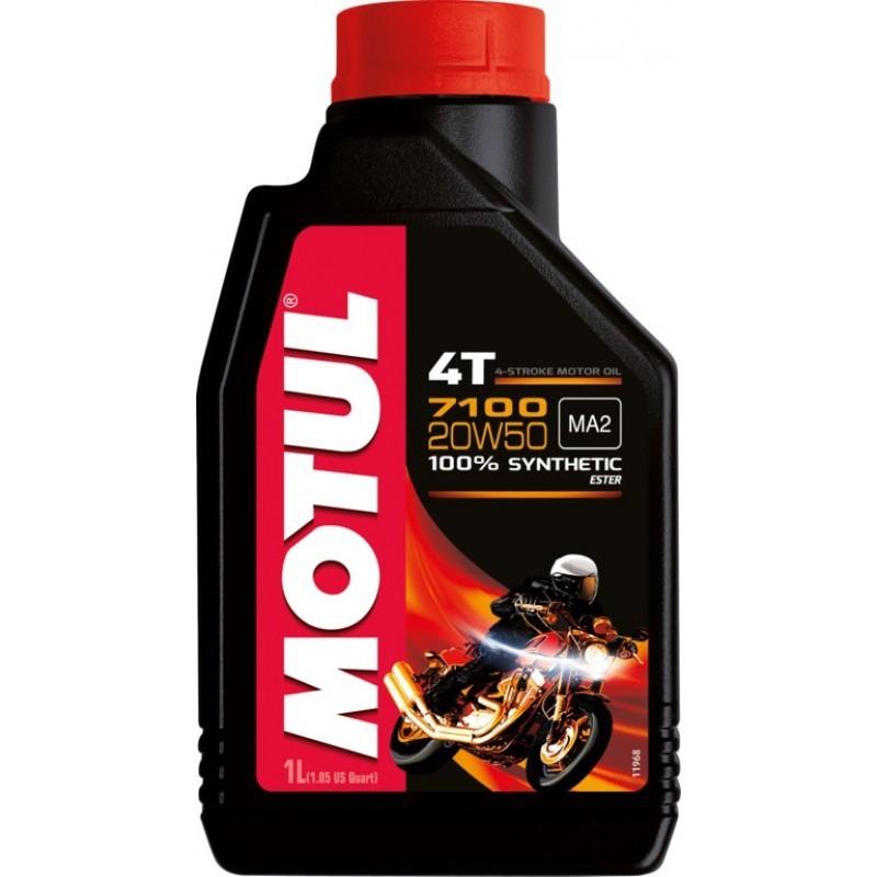 Motul 7100  20W-50 4Т (1л) Синтетическое моторное масло для мотоциклов