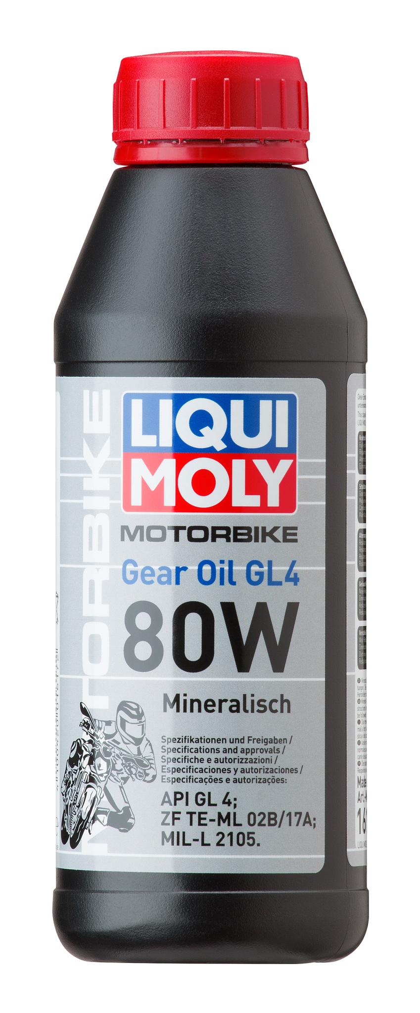 Liqui Moly Motorrad Gear Oil 80W — Минеральное трансмиссионное масло для мотоциклов