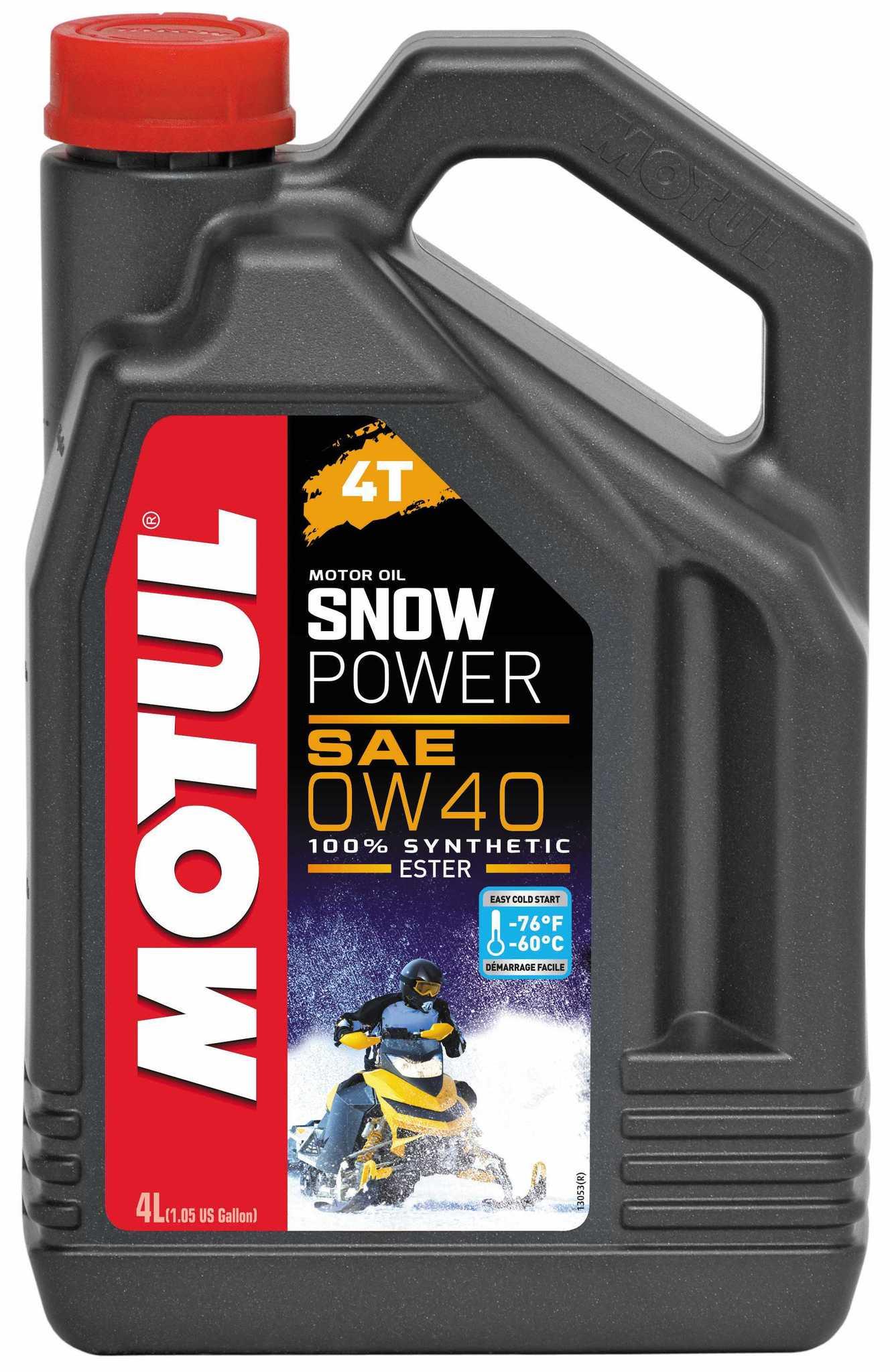 Motul Snowpower 4T 0w40  - Синтетическое масло для снегоходов