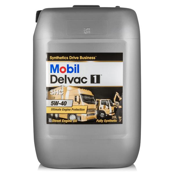 Mobil Delvac 1 SHC 5W-40 синтетическое для современных дизельных двигателей