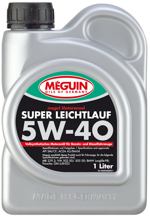 Meguin Motorenoel Super Leichtlauf 5W40 Синтетическое моторное масло