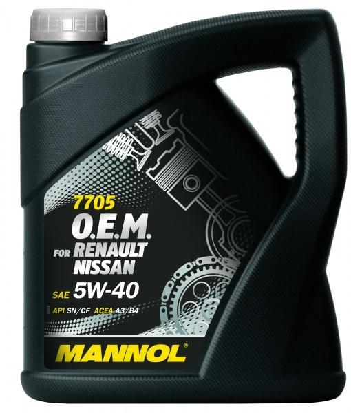 Mannol 7705 5W40 SN/CF - Синтетическое моторное масло