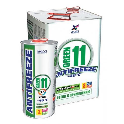 XADO Antifreeze Green 11 -40⁰С Готовый антифриз. Окрашен в зеленый цвет. 2.2 кг
