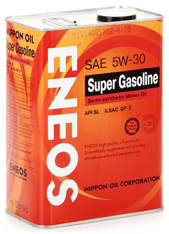 Eneos Super Gasoline SL 5W30 (4л) – Полусинтетическое моторное масло
