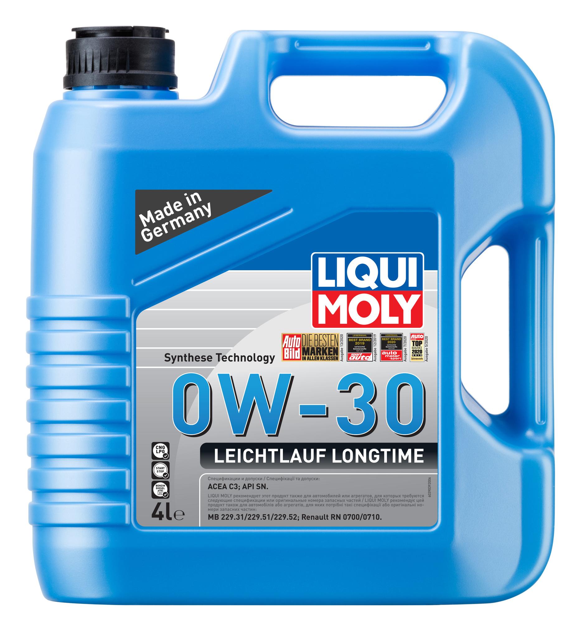 Liqui Moly Leichtlauf Longtime 0W30 НС-синтетическое моторное масло