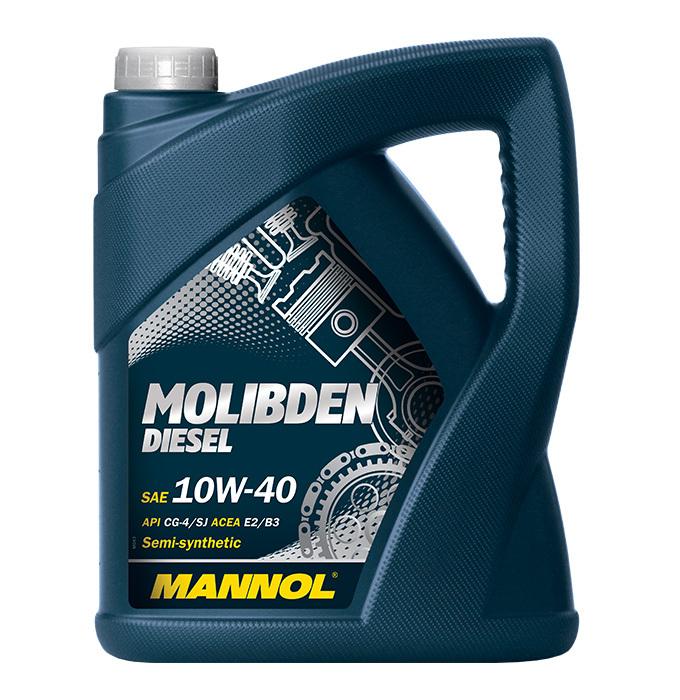 Mannol Molibden Diesel 10W-40 API CG-4/CF-4/SJ  - Полусинтетическое моторное масло для дизельных автомобилей