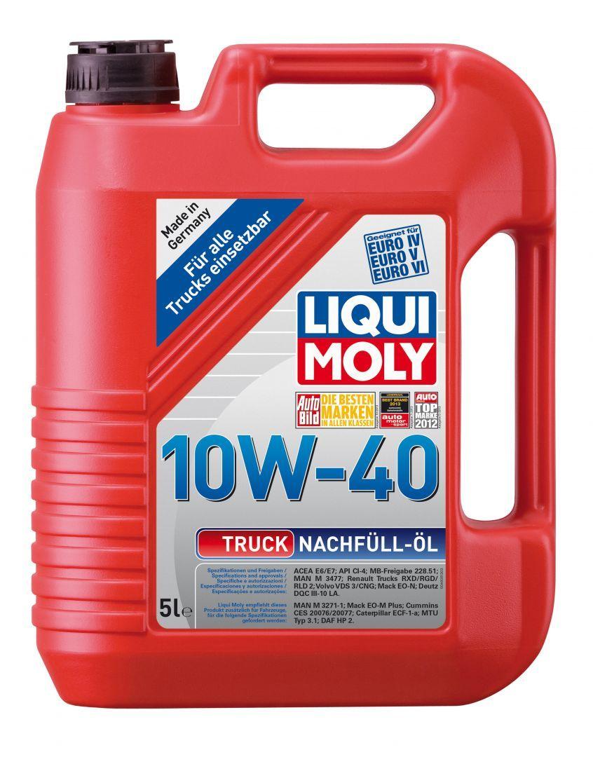Liqui Moly Truck Nachfull Oil 10W40 Доливочное моторное масло для дизельных автомобилей