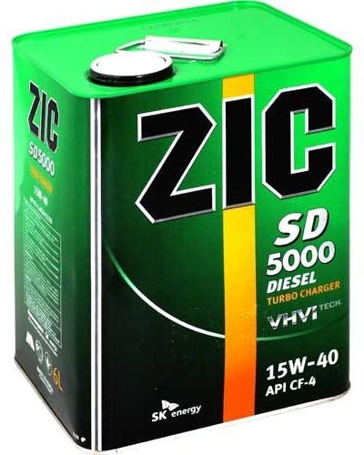 ZIC 5000 SD 15W40 CH-4 - Полусинтетическое моторное масло для дизельных двигателей (4л)