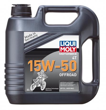 Liqui Moly Motorbike 4T Offroad 15W-50 - НС-синтетическое моторное масло для 4-тактных мотоциклов