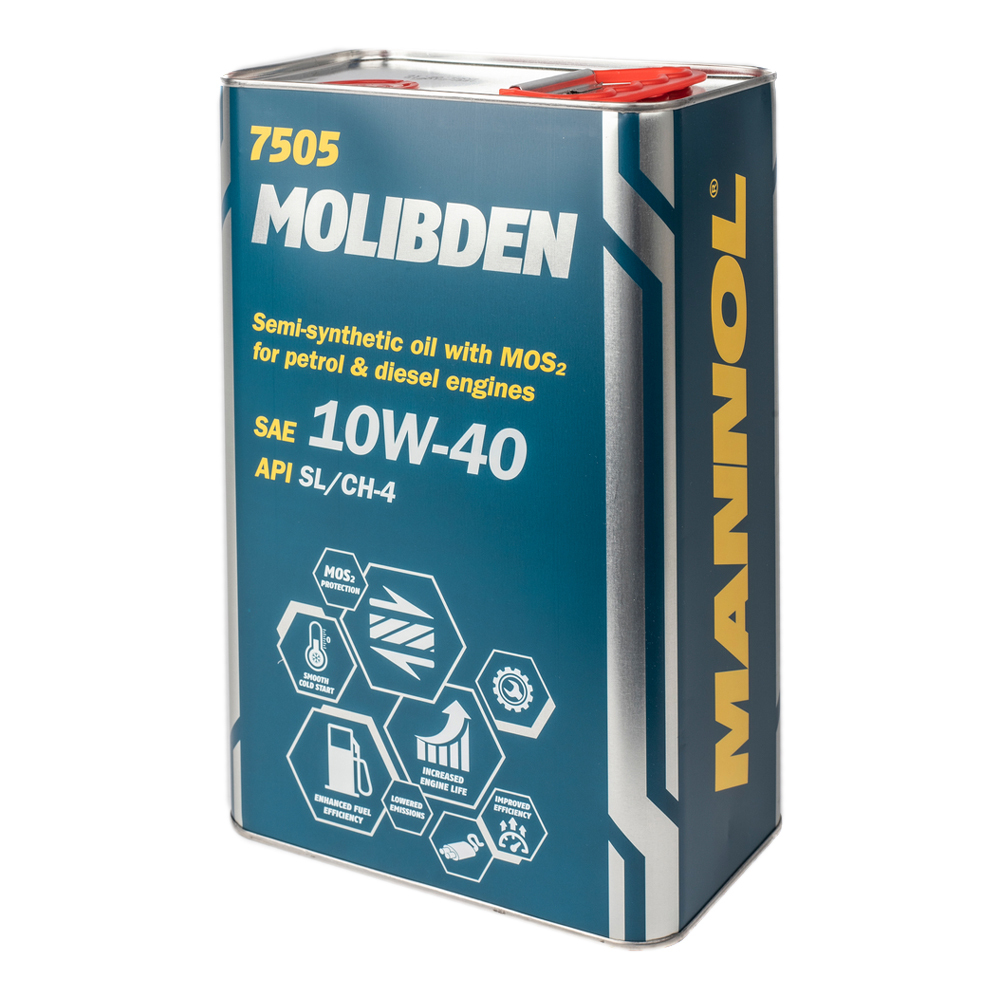Mannol Molibden 10W40 API SL/CH-4 Полусинтетическое моторное масло