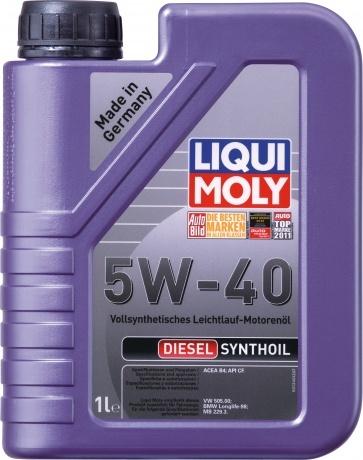 Liqui Moly Diesel Synthoil 5W40 Дизельное синтетическое моторное масло