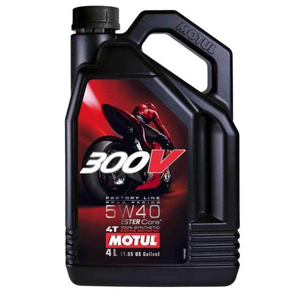 Motul 300V 4T Factory Line Road Racing 5W40 - Синтетическое мотоциклетное масло