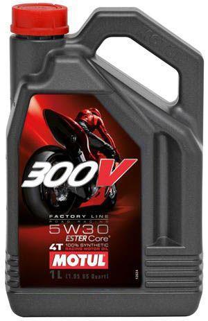 Motul 300V Factory Line Road Racing 5W30 Синтетическое масло для 4Т  мотоциклов