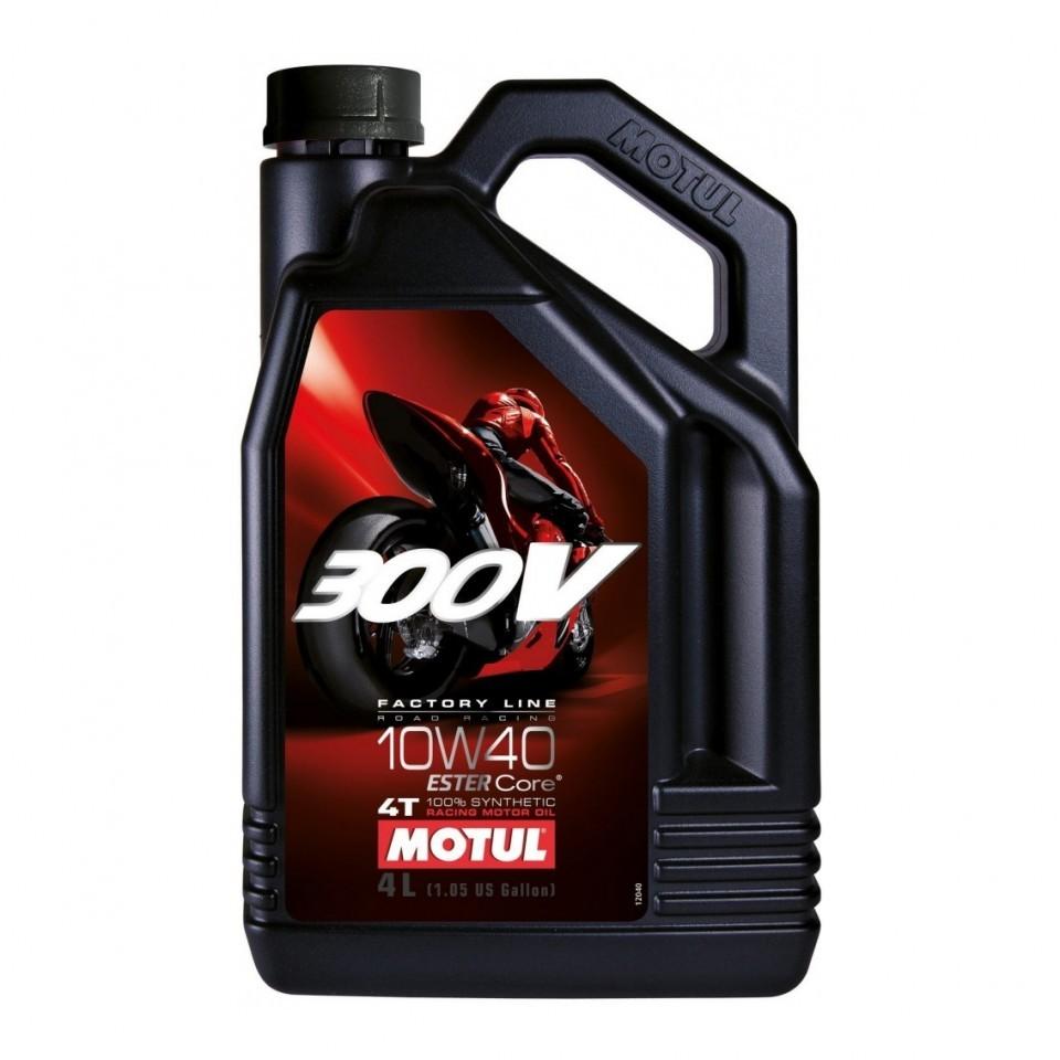 Motul 300V 4T Factory Line Road Racing 10W-40 - Синтетическое мотоциклетное масло